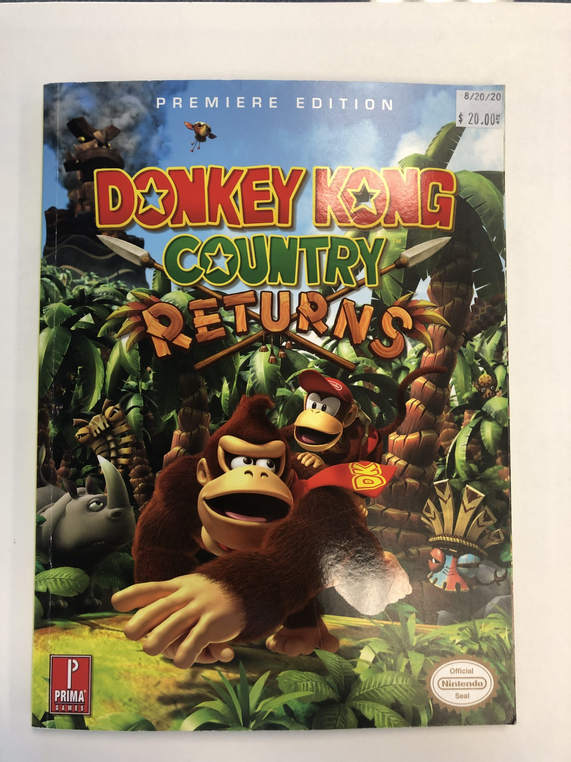 Donkey Kong Country Returns Guide Book
