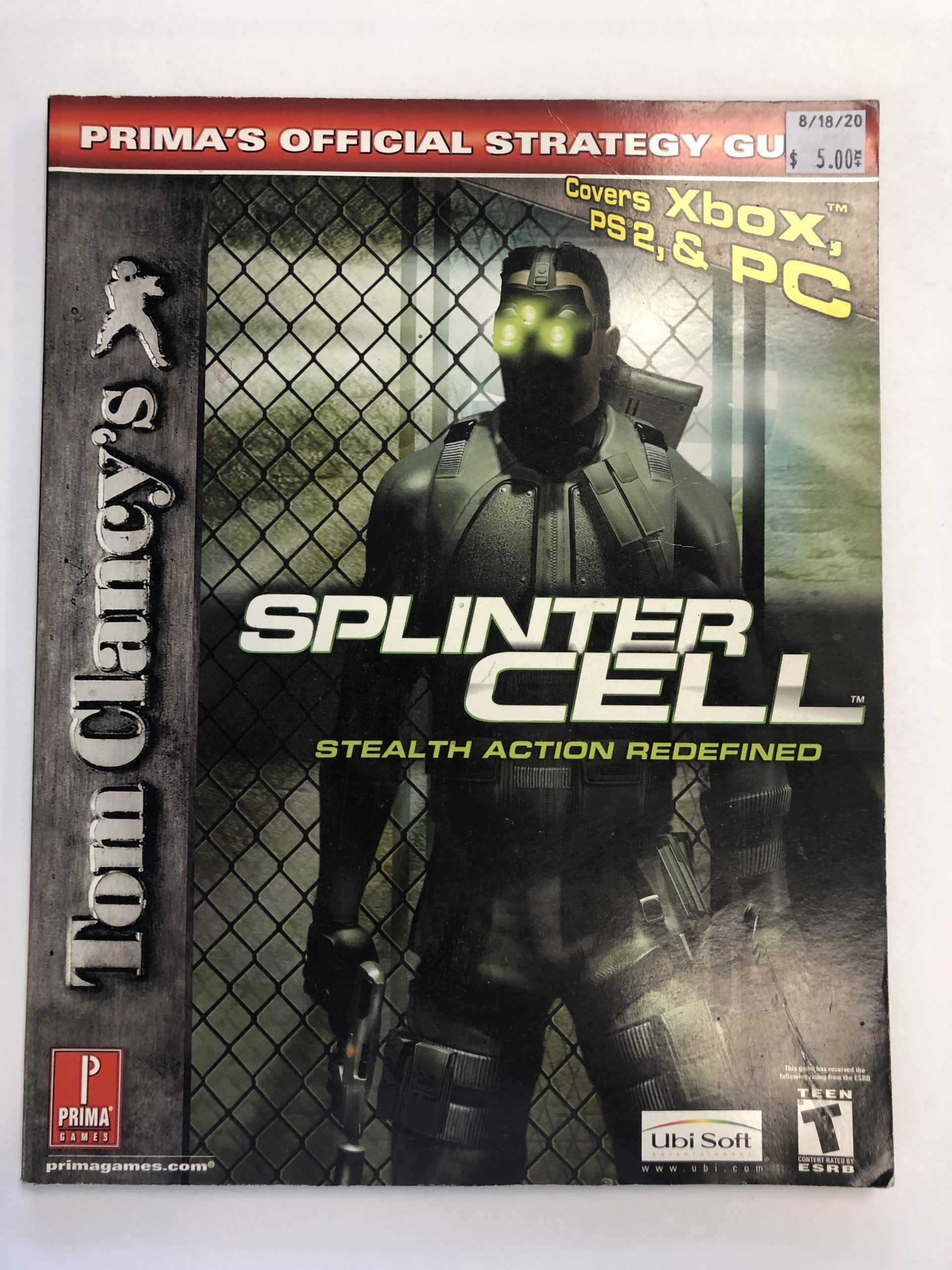 Splinter Cell Stealth Action Redefined Guide Book