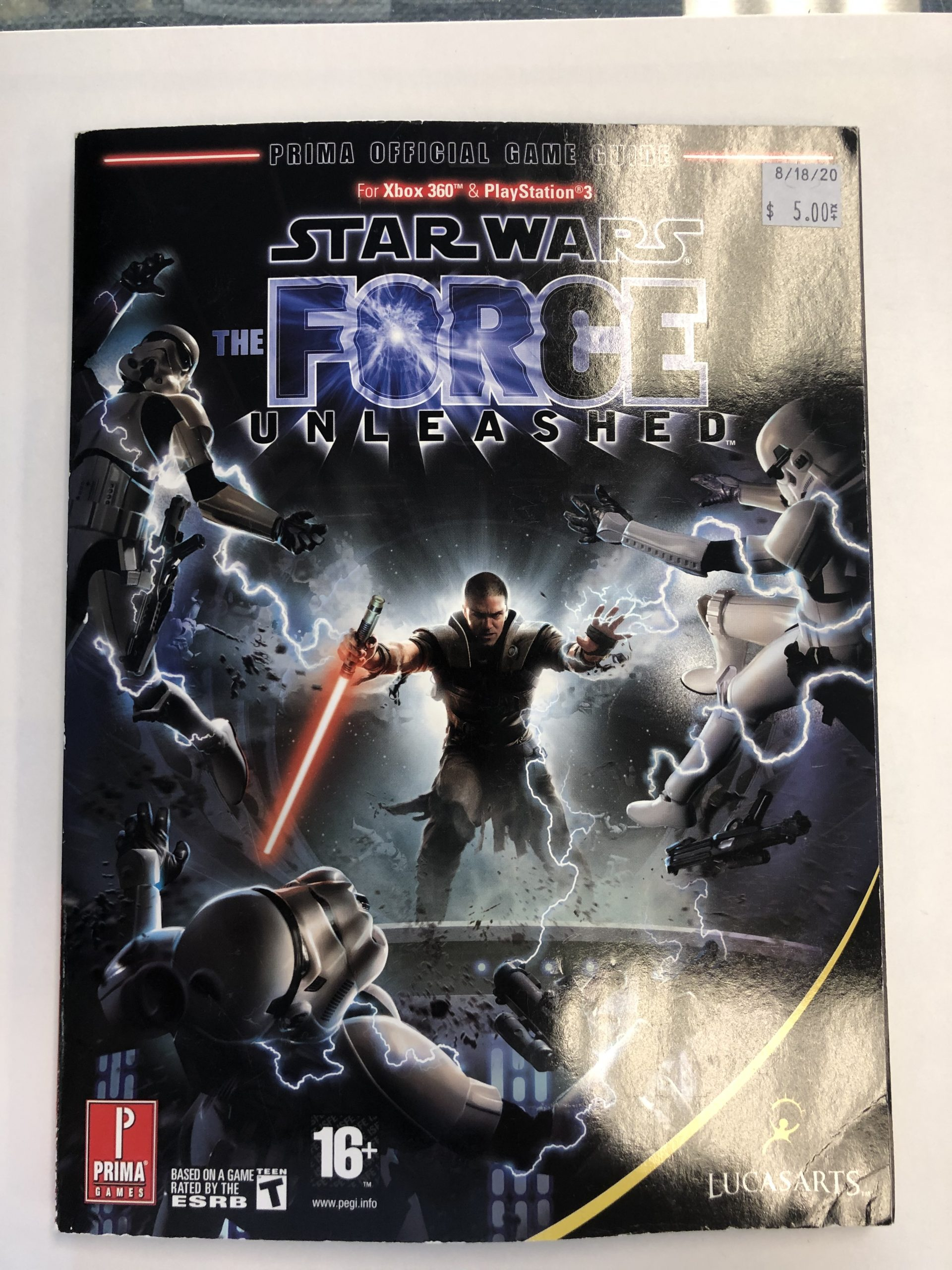 Star Wars Force Unleashed Guide Book