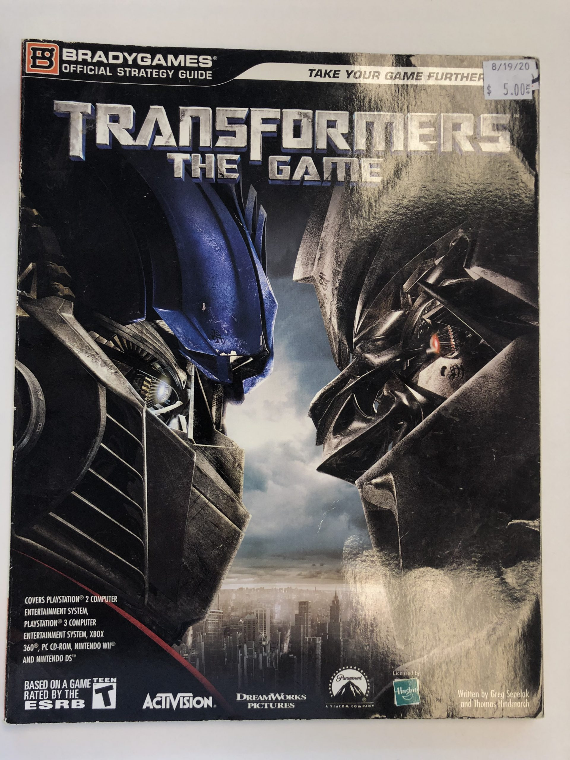 Transformers The Game Guide Book