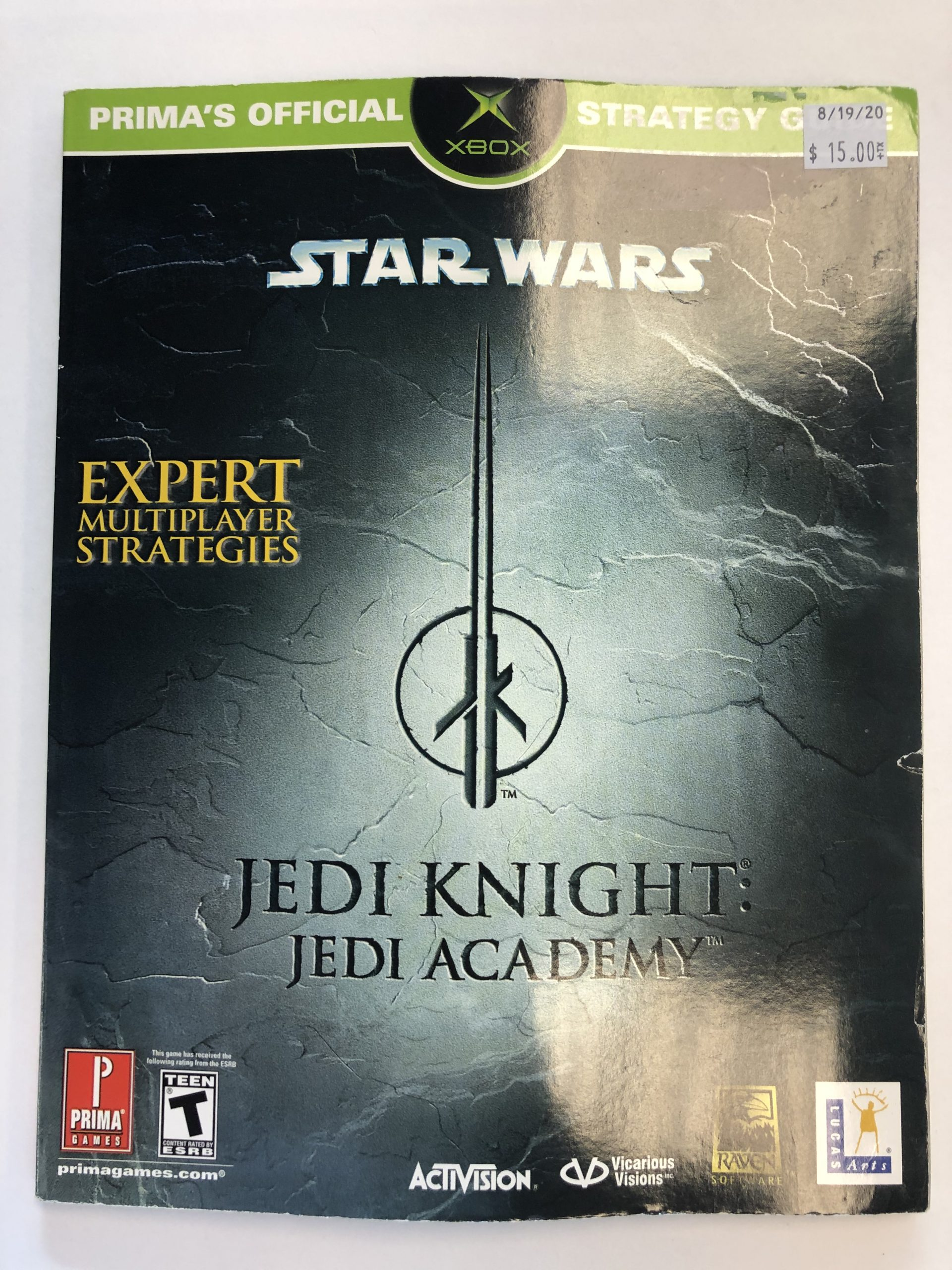 Jedi Knight Jedi Academy Guide Book