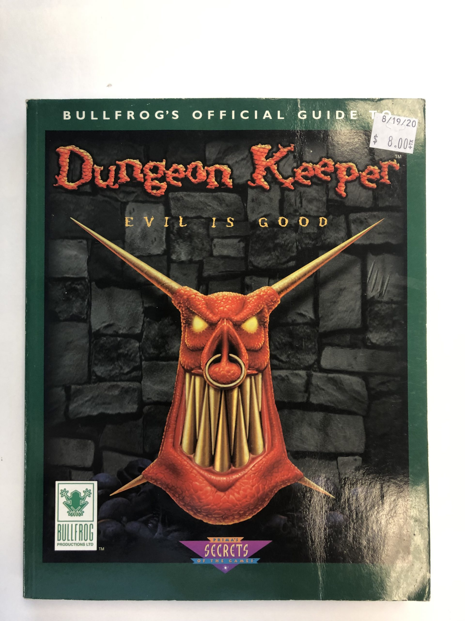 Dungeon Keeper Guide Book