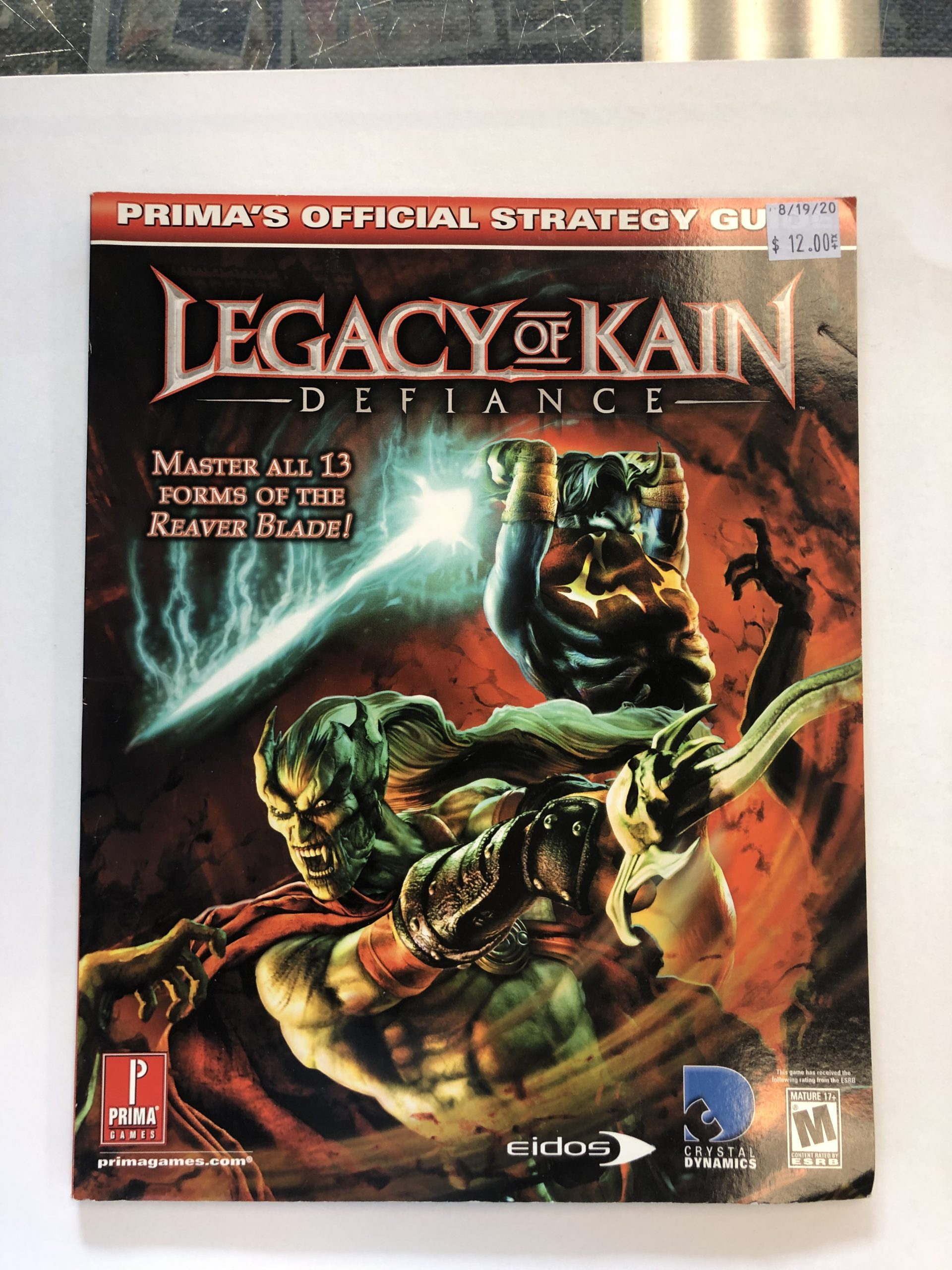 Legacy Of Kain Defiance Guide Book