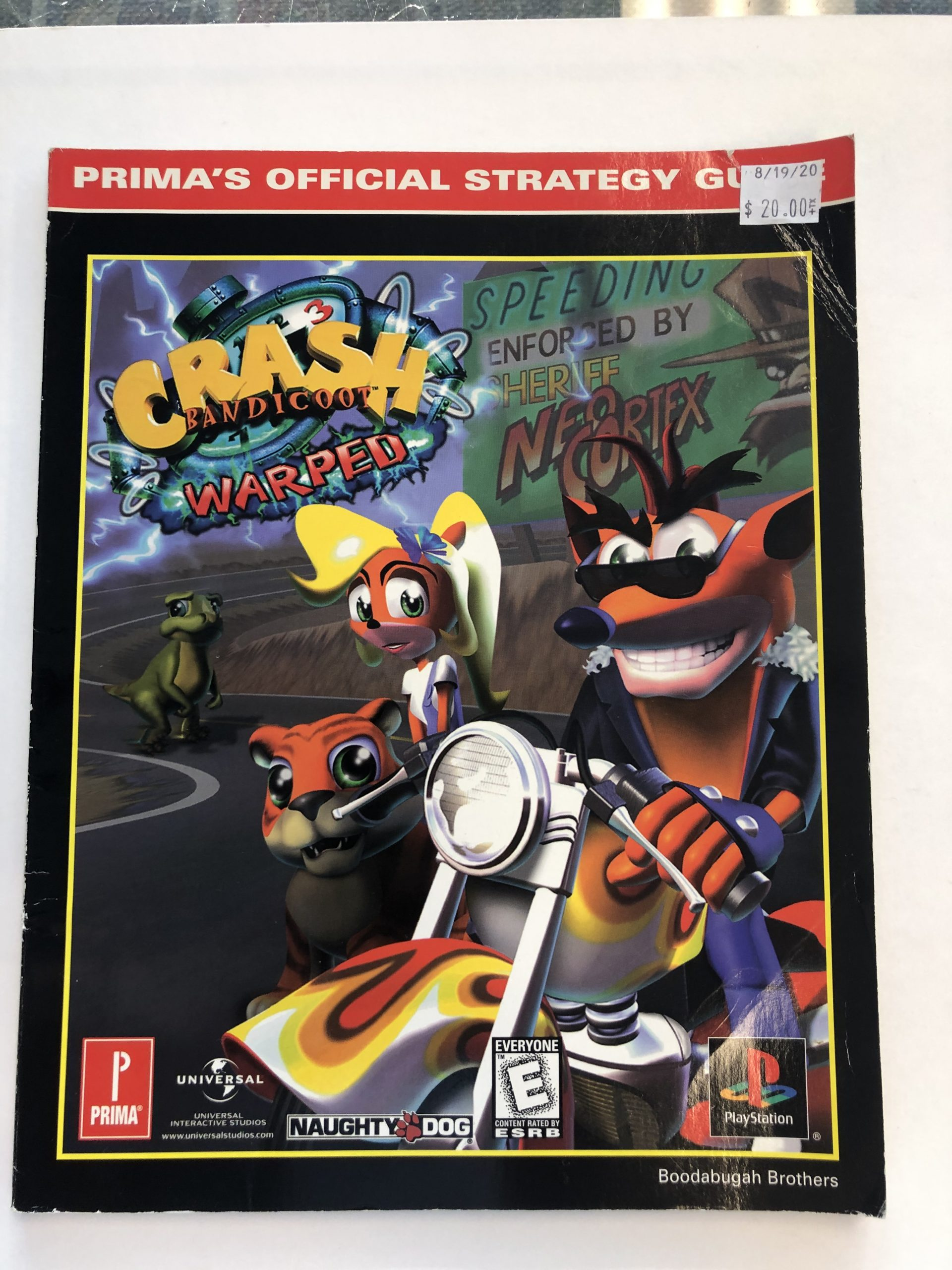Crash Bandicoot Warped Guide Book