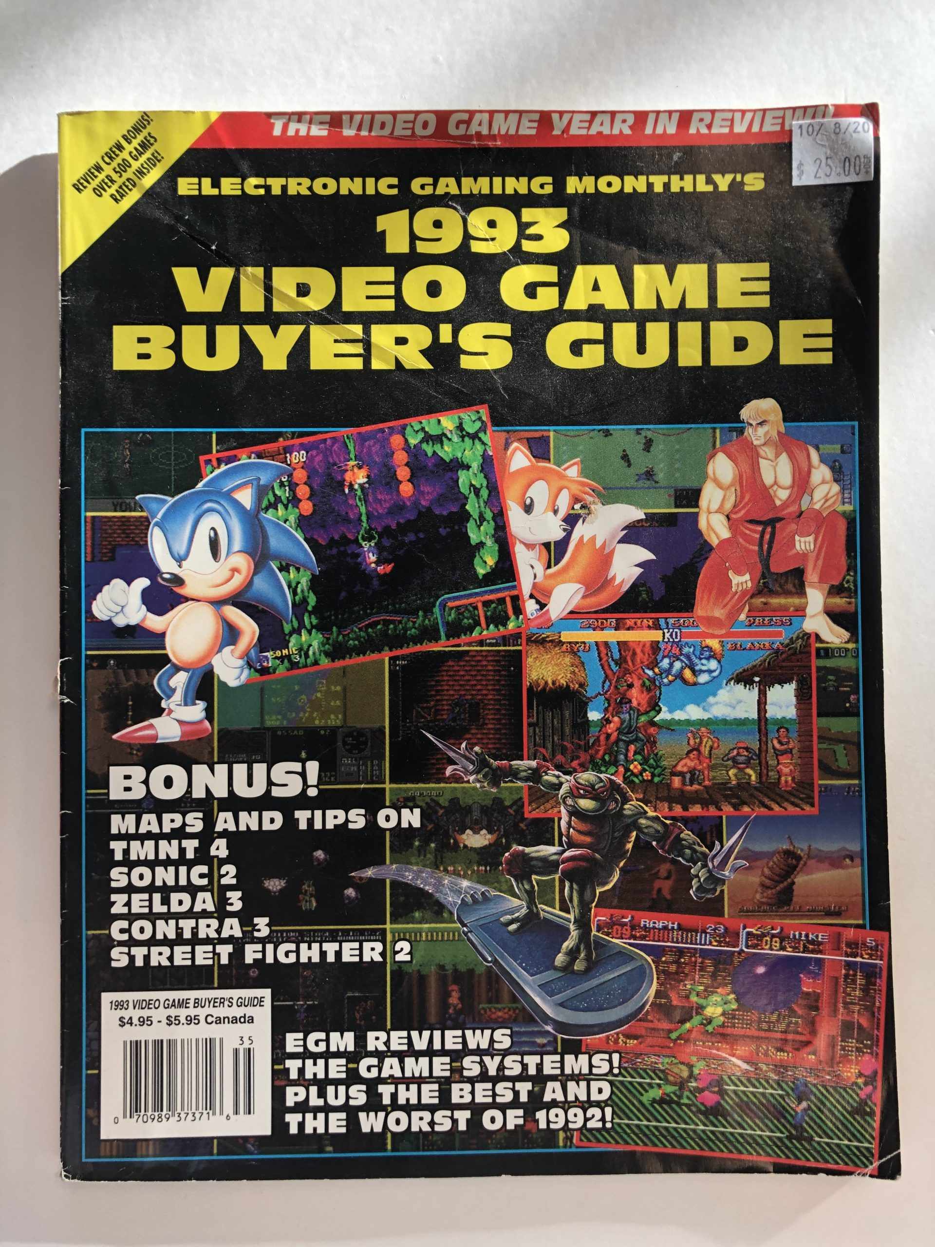 1993 Video Game Buyer's Guide Book