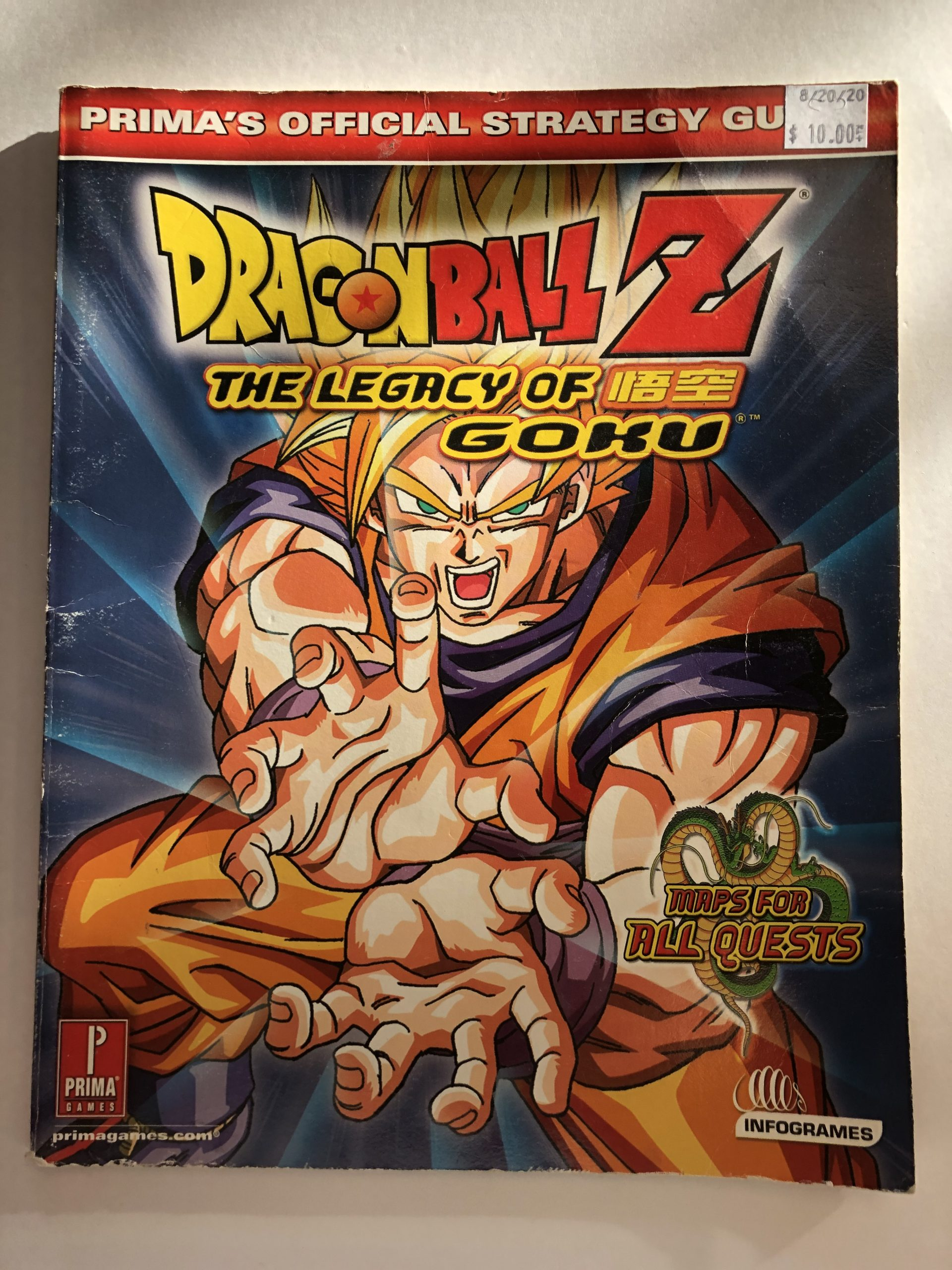 Dragon Ball Z Legacy Of Goku Guide Book