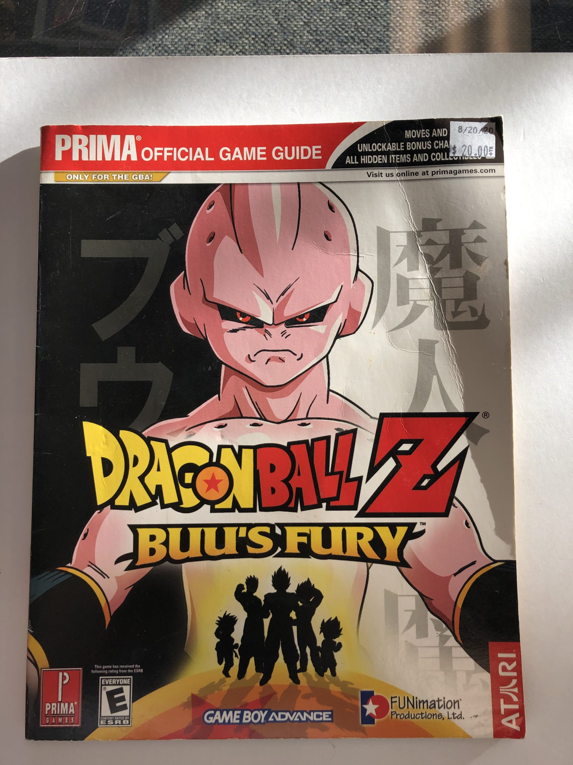 Dragon Ball Z Buu's Fury Guide Book
