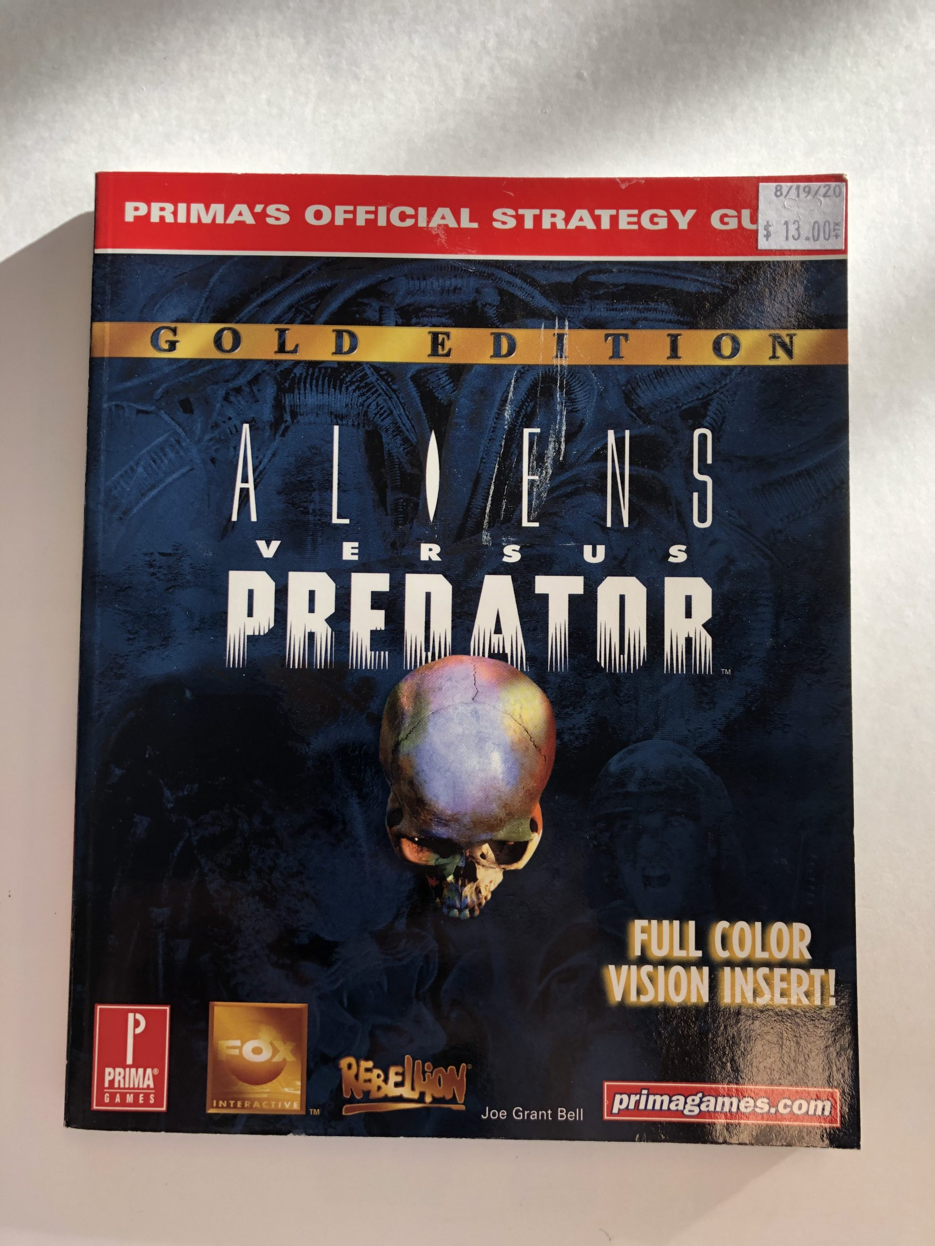 Aliens Versus Predator Guide Book