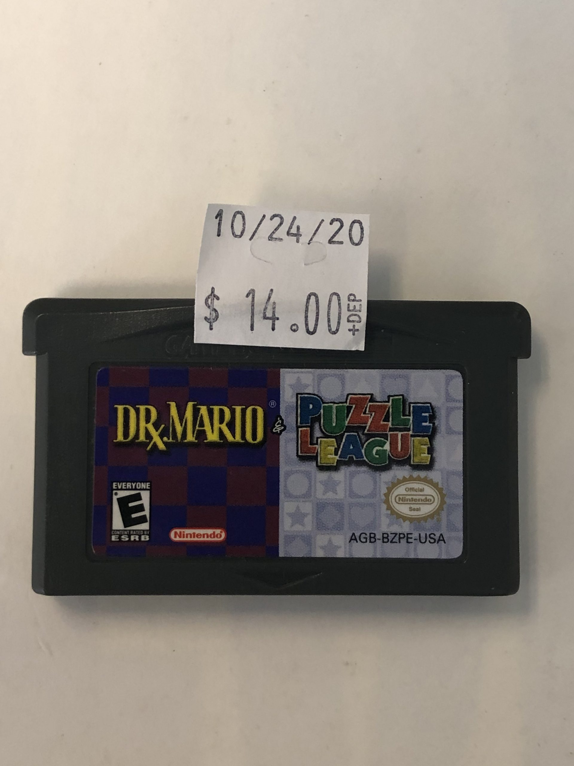 Dr. Mario And Puzzle League GBA Cartridge
