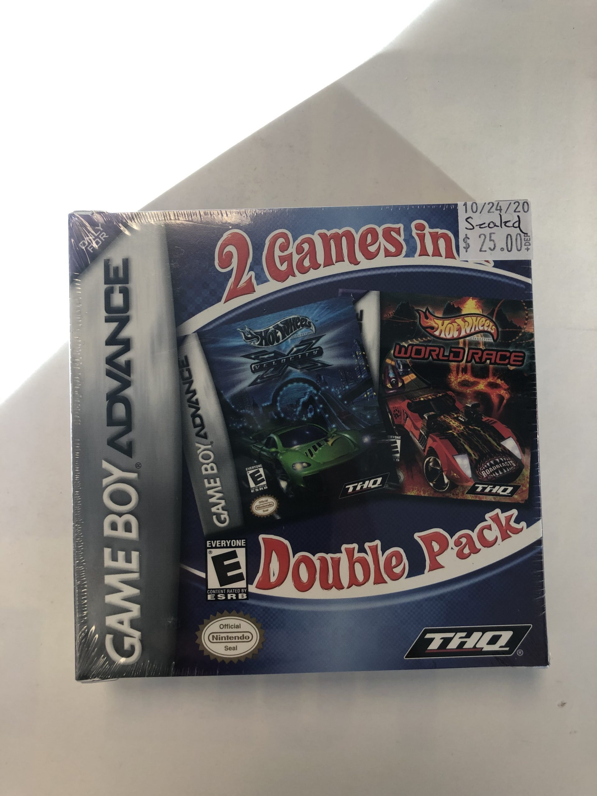 SEALED 2 Games In 1 Double Pack Hot Wheels GBA