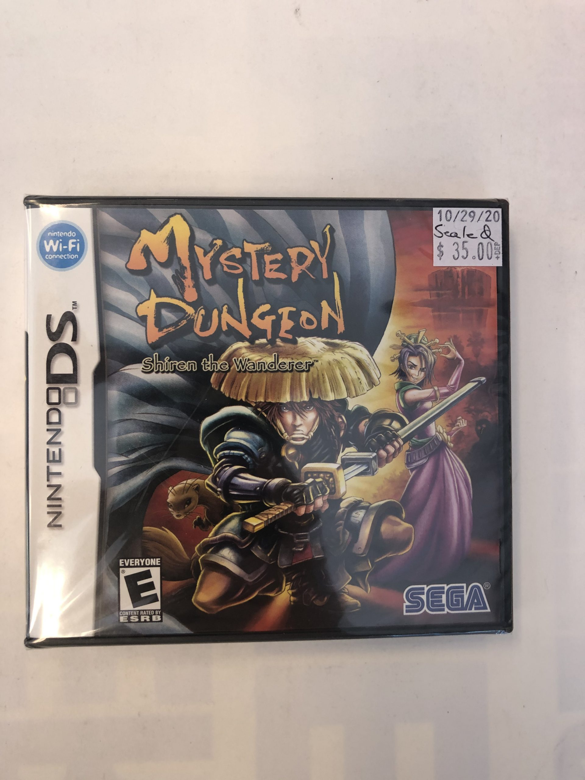 SEALED Mystery Dungeon Shiren The Wanderer DS