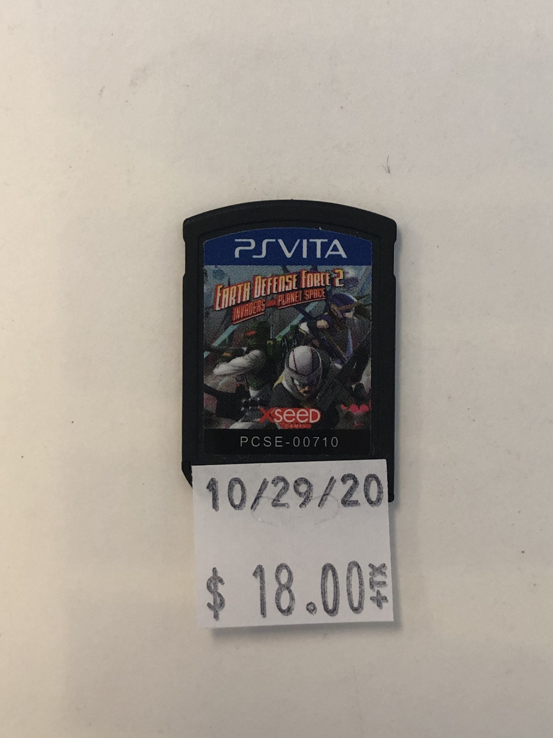 Earth Defense Force 2 Cartridge PS Vita