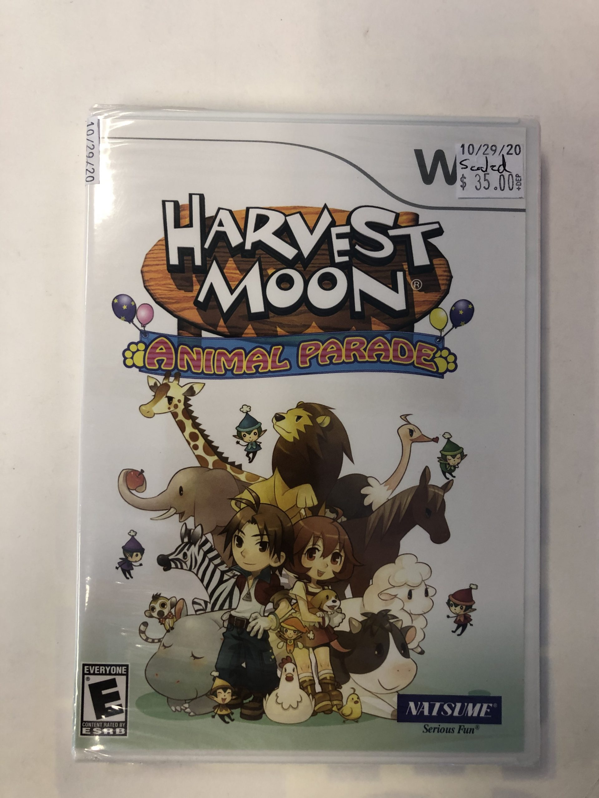 SEALED Harvest Moon Animal Parade Wii