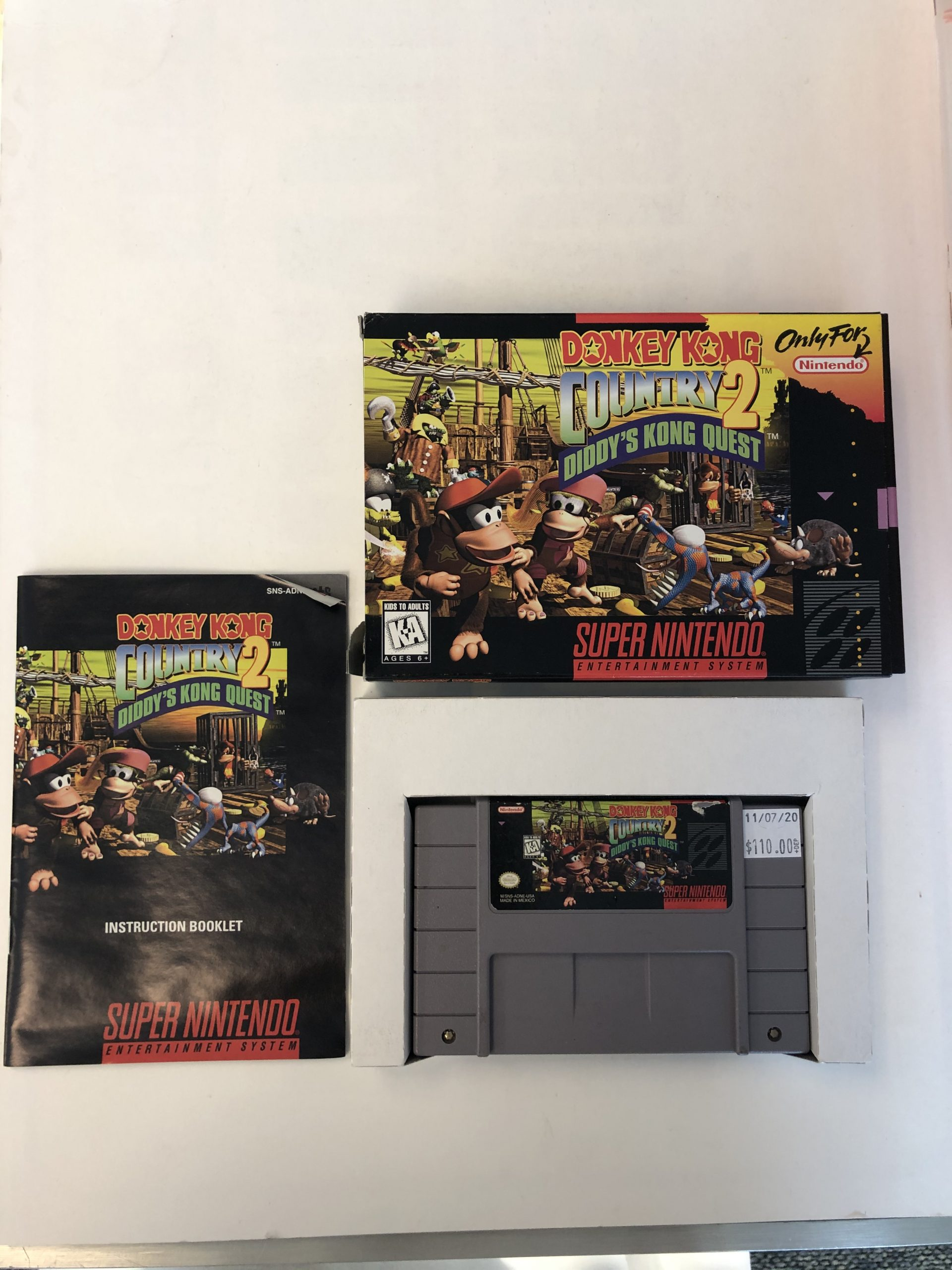 Donkey Kong Country 2 Diddy's Kong Quest CIB SNES