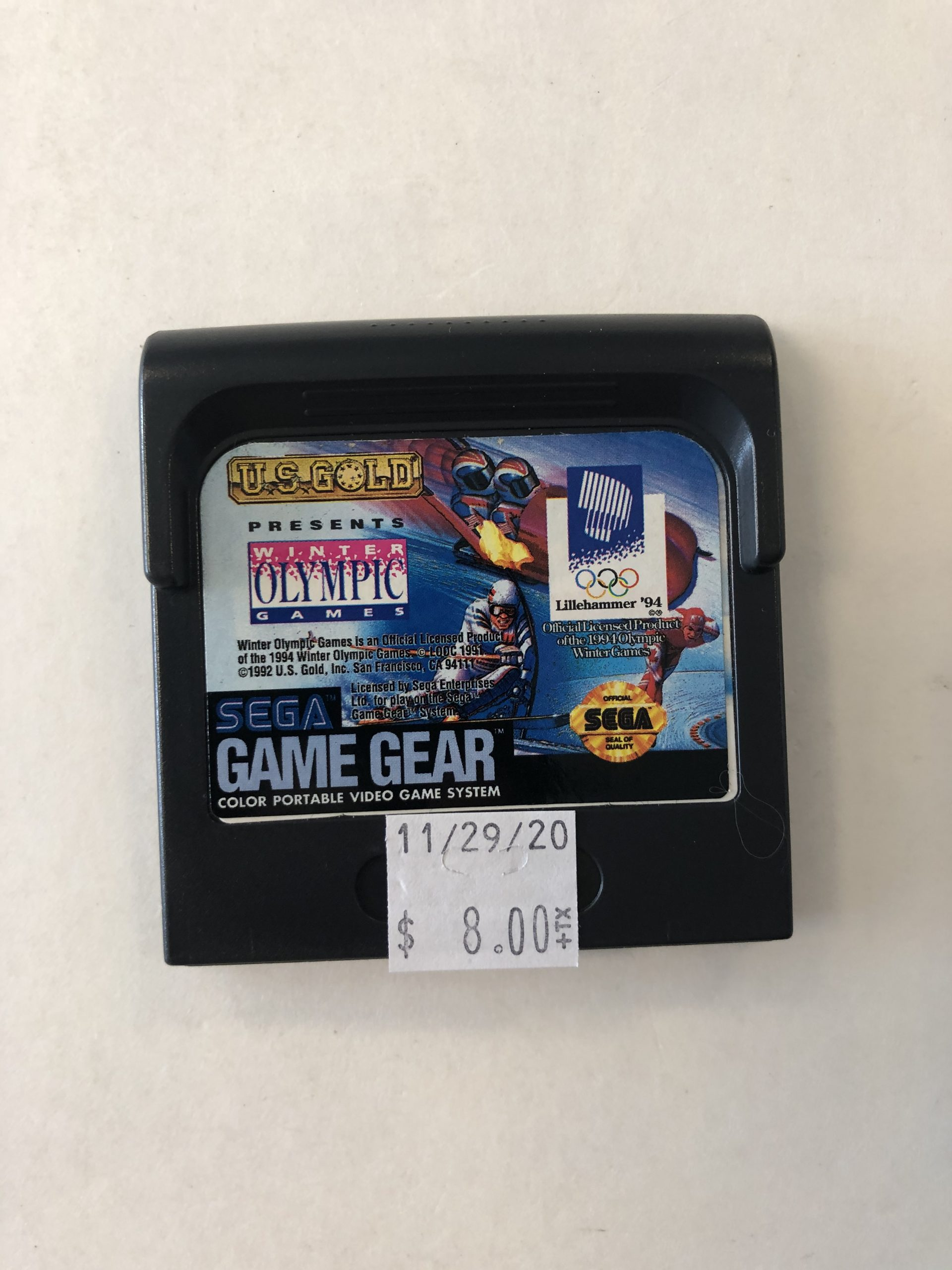 Olympic Games Cartridge Game Gear