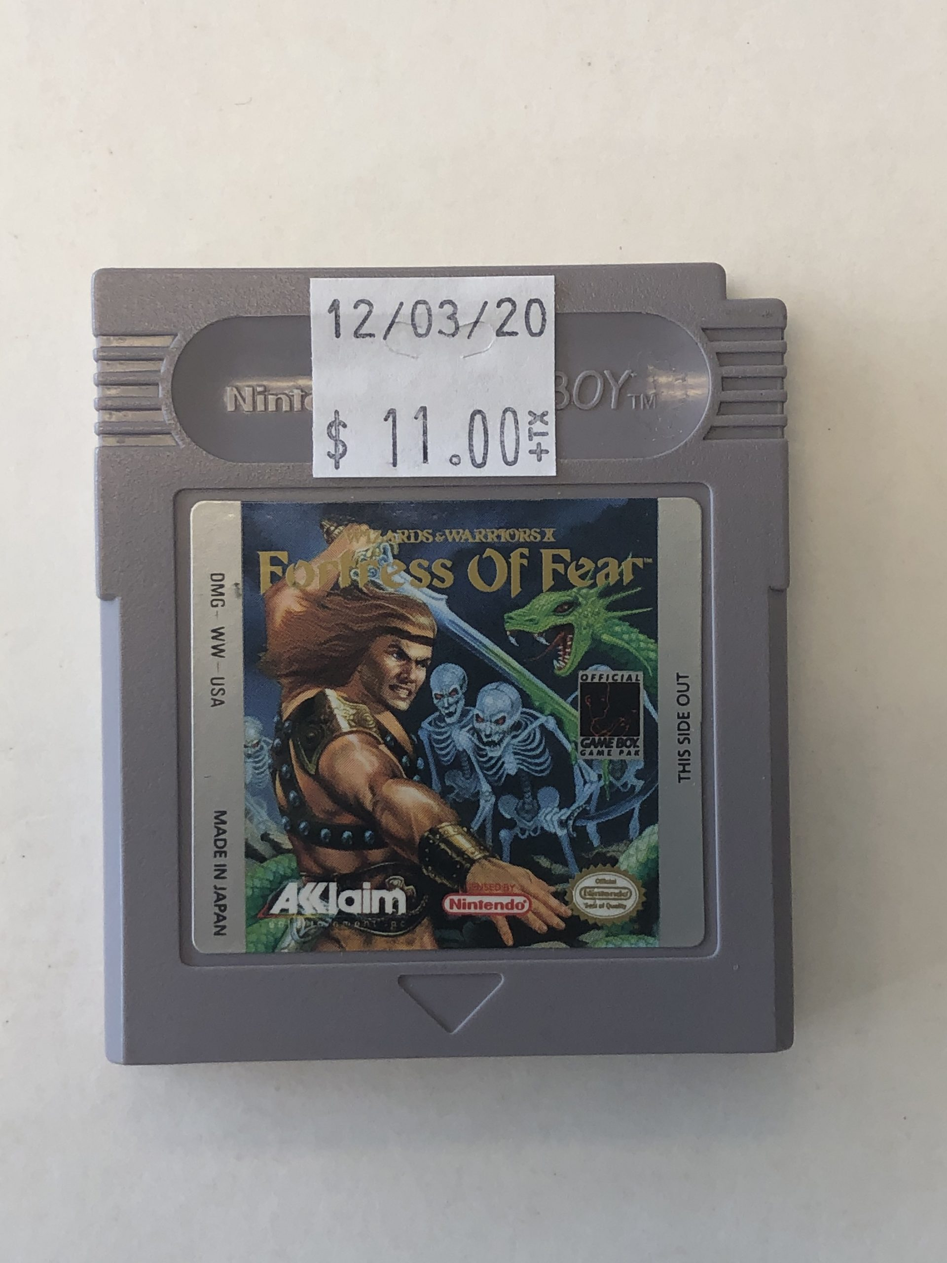 Fortress Of Fear Cartridge Gameboy