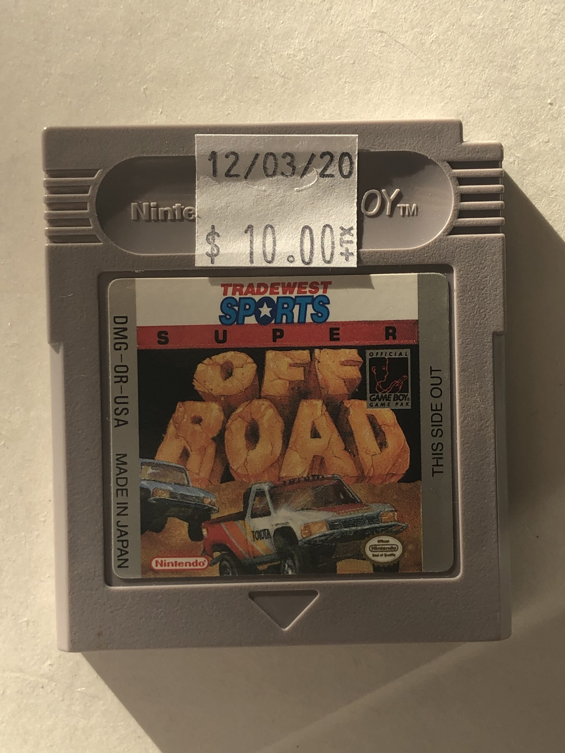 Super Off Road Cartridge Gameboy