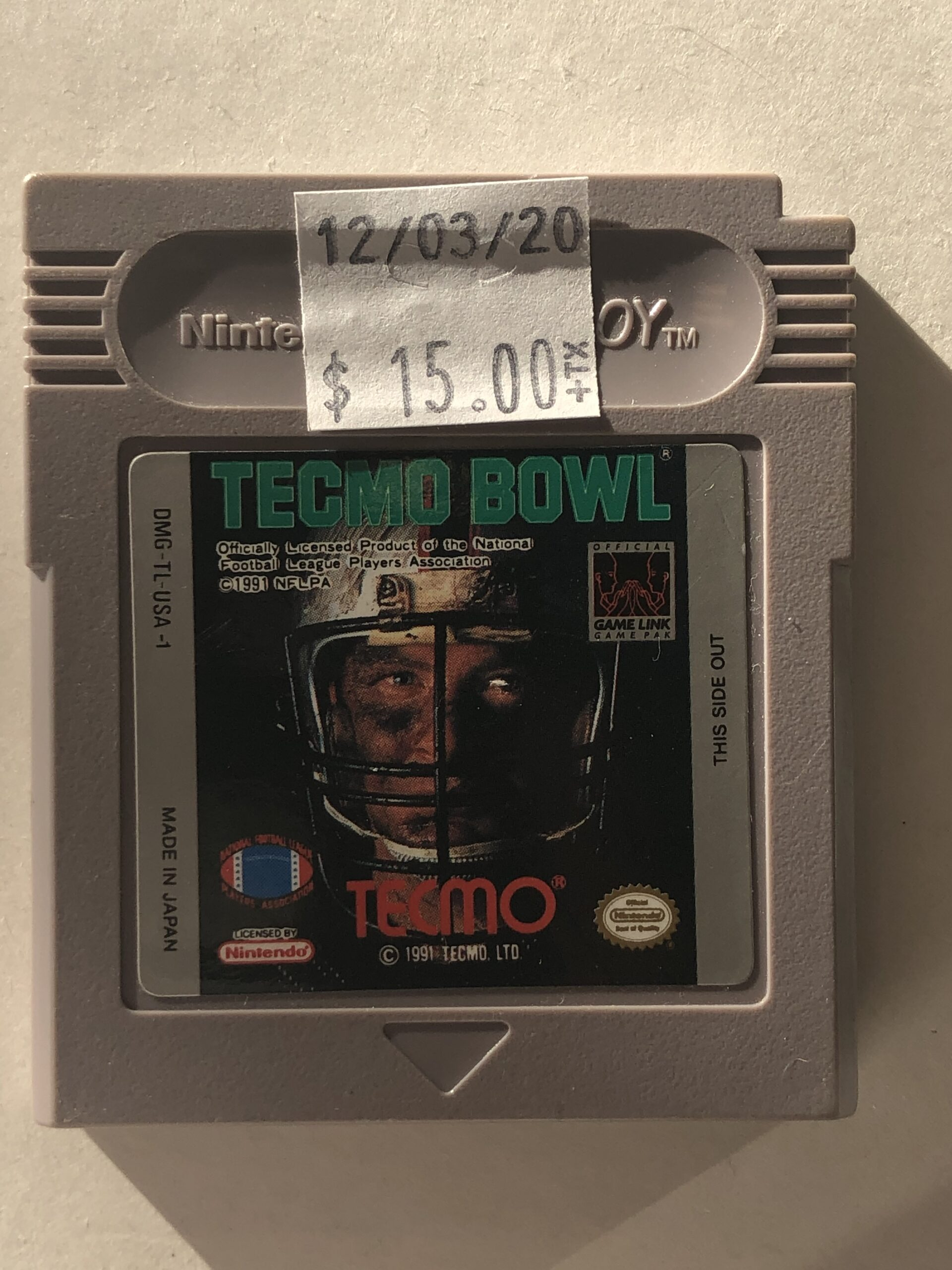 Tecmo Bowl Cartridge Gameboy