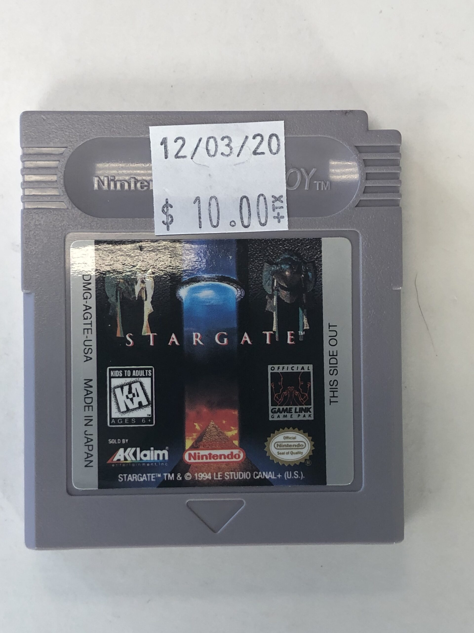 Stargate Cartridge Gameboy