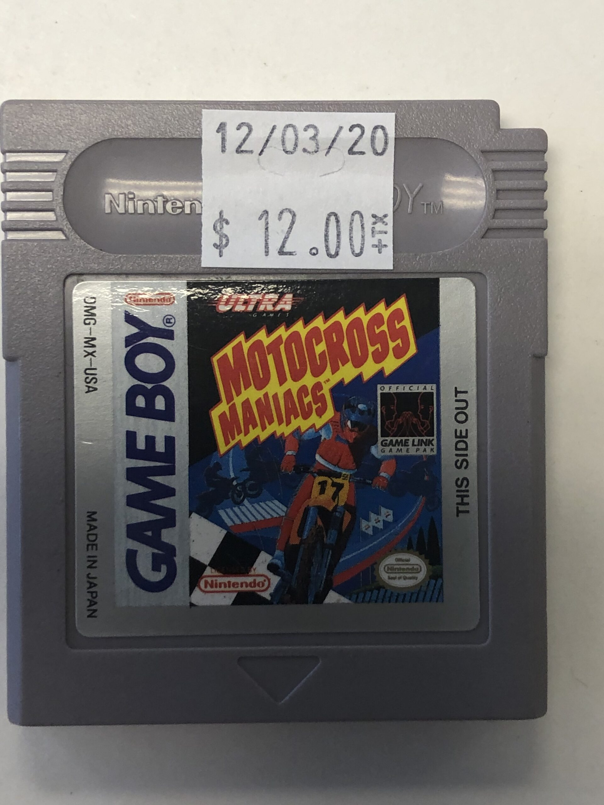 Motorcross Maniacs Cartridge Gameboy