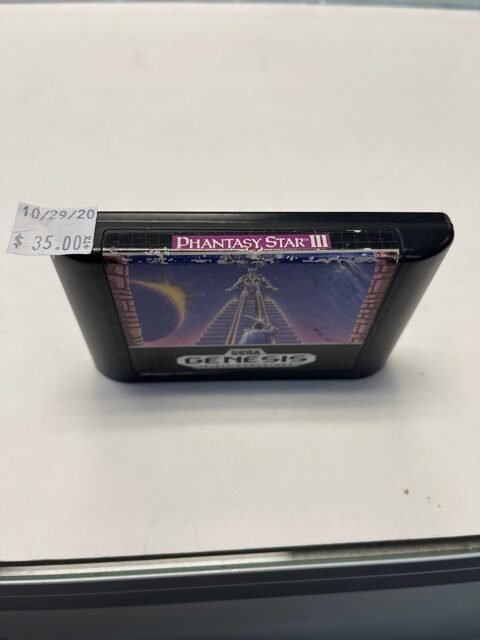 Phantasy Star III Cartridge Sega Genesis
