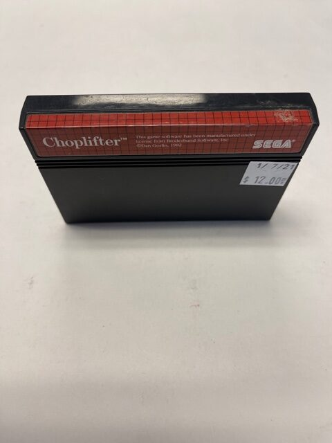 Choplifter Cartridge Sega Master System