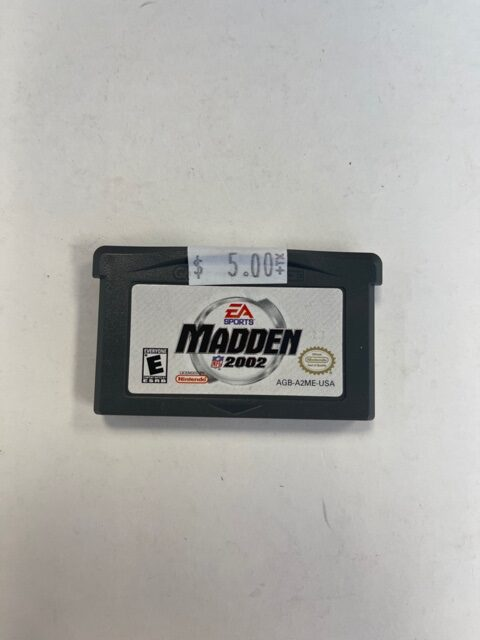 Madden 2002 Cartridge GBA