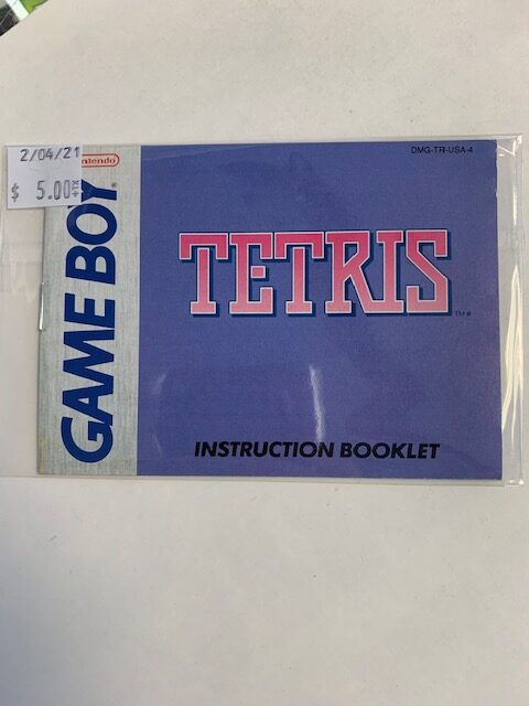 Tetris Game Boy Manual