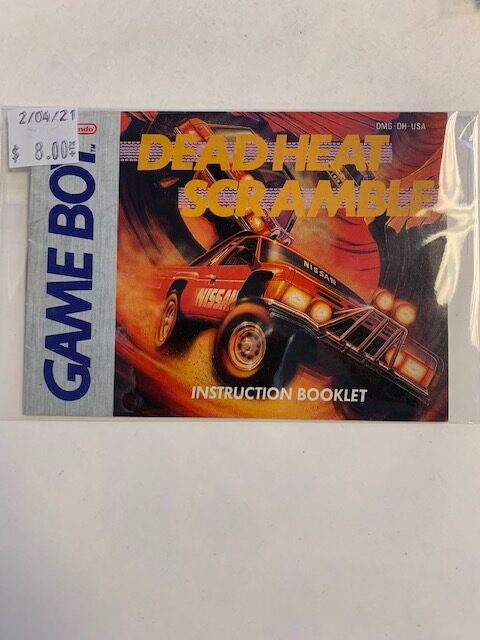 Dead Heat Scramble GB Manual