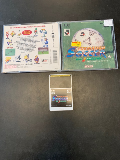 Formation Soccer On J League HuCard PC Engine