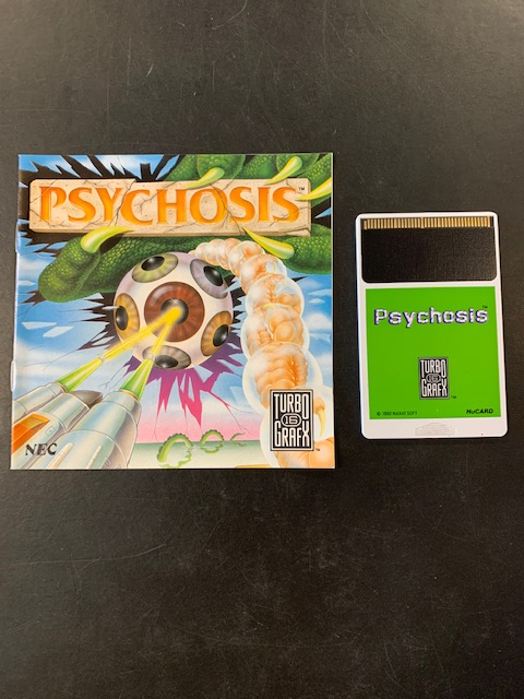 Psychosis Turbo Grafx 16 Manual & HuCard Only