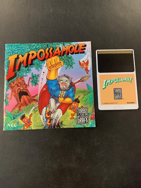 Impossamole Turbo Grafx 16 Manual & HuCard Only