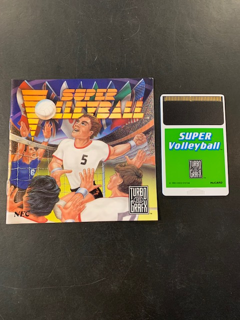 Super Volleyball Turbo Grafx 16 Manual & HuCard Only