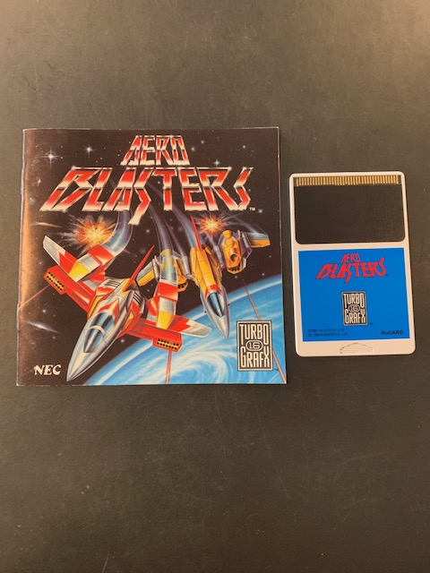 Aero Blasters Turbo Grafx 16 Manual & HuCard Only