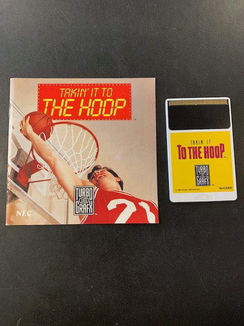 Takin' It To The Hoop Turbo Grafx 16 Manual & HuCard Only