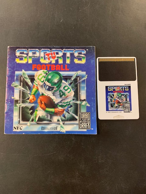 Sports TV Football Turbo Grafx 16 Manual & HuCard Only