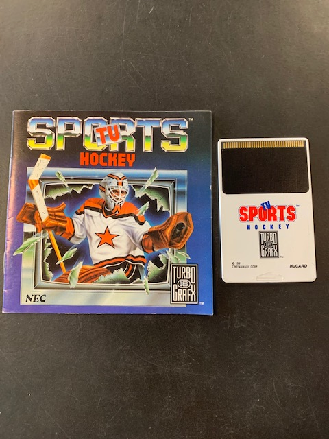 Sports TV Hockey Turbo Grafx 16 Manual & HuCard Only