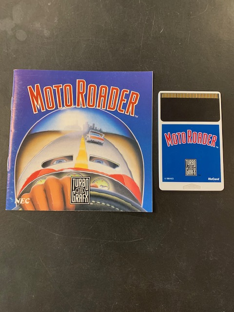 Moto Roader Turbo Grafx 16 Manual & HuCard Only
