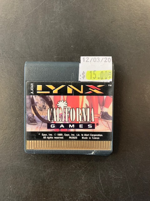 California Games Atari Lynx Card Only