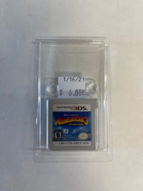 Madagascar 3 The Video Game Cartridge 3DS