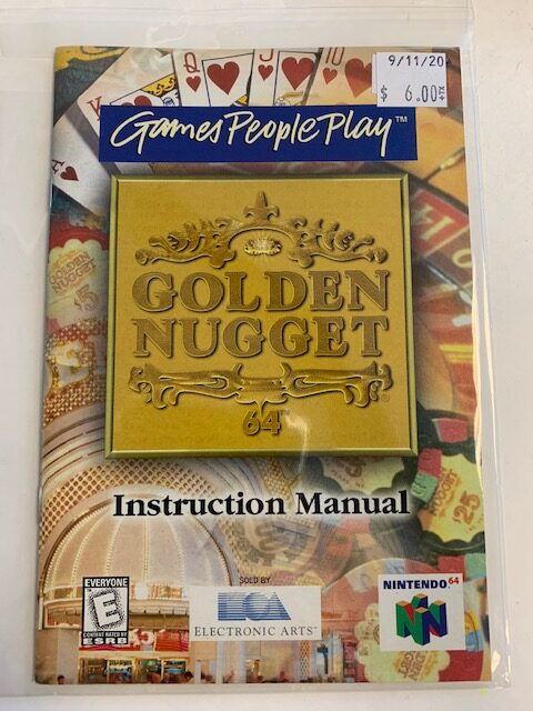 Games People Play Golden Nugget N64 Manual