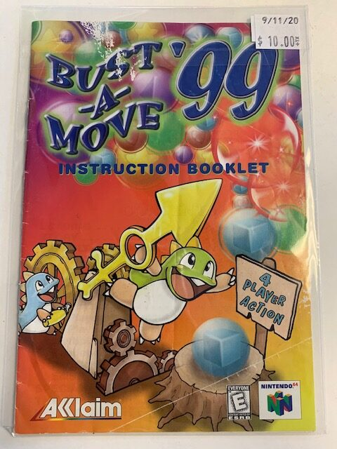 Bust A Move 99 N64 Manual