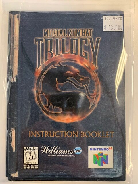 Mortal Kombat Trilogy Manual