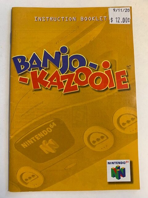 Banjo-Kazooie N64 Manual
