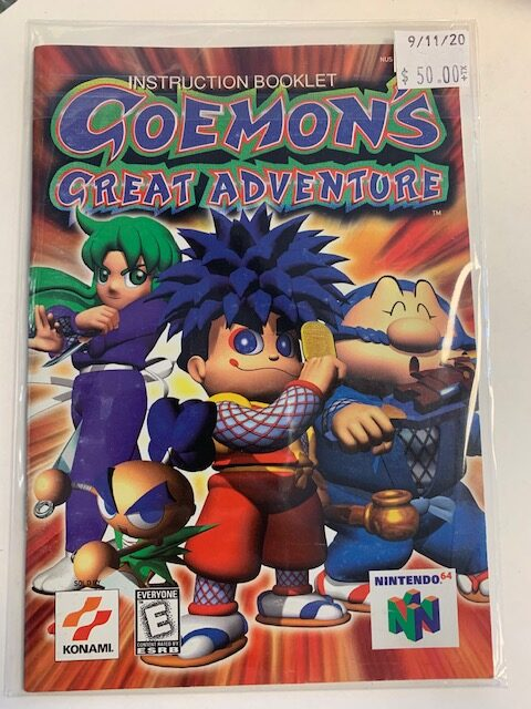 Goemon's Great Adventure N64 Manual