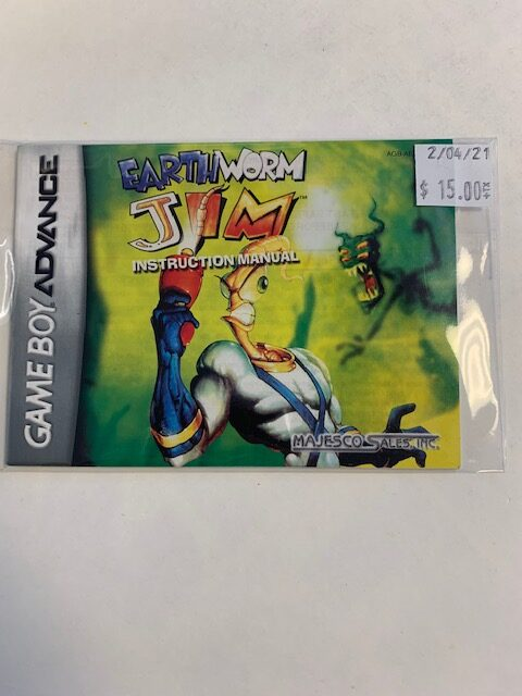 Earth Worm Jim GBA Manual