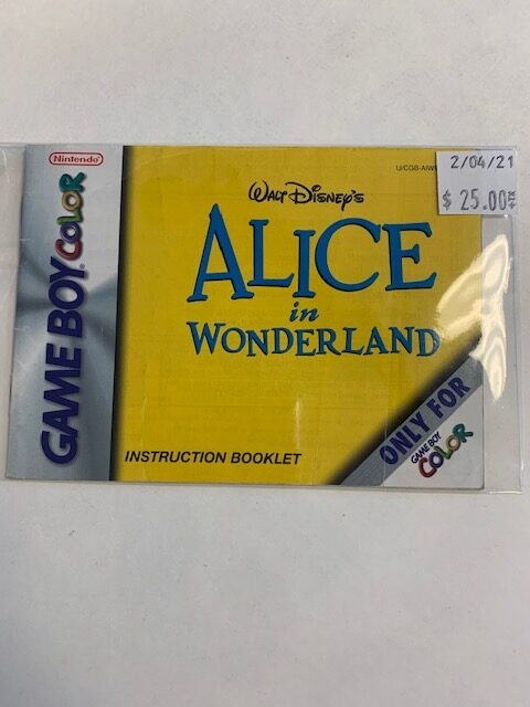 Alice In Wonderland GBC Manual