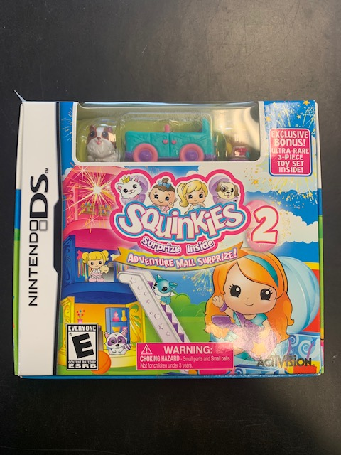 Squinkies 2 Adventure Mall Surprize! Nintendo DS Sealed With Toy