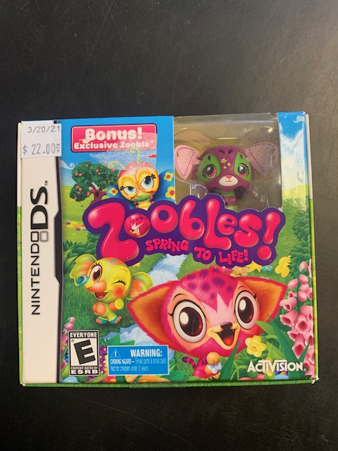 Zoobles Spring To Life Nintendo DS With Exclusive Zooble Sealed