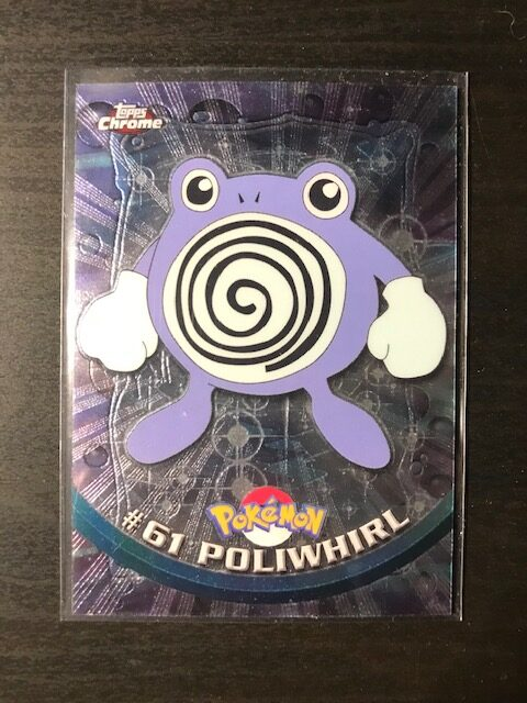 Pokemon Card Topps Chrome Poliwhirl #61 Holo